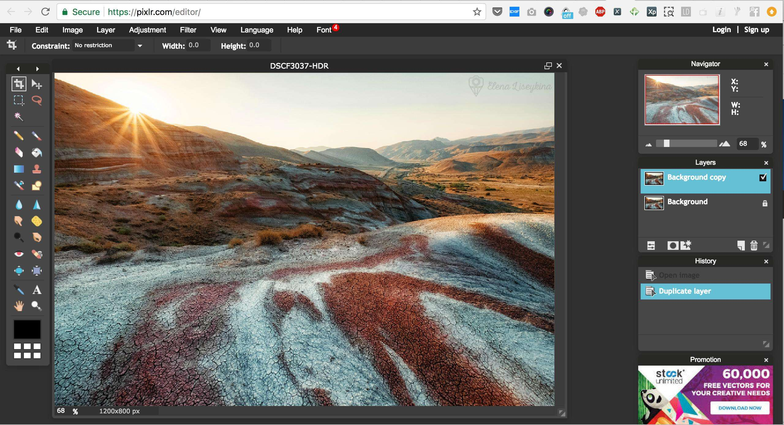 Photo editor layer pictures