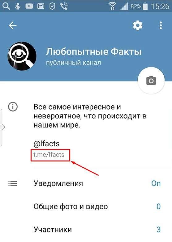 Где посмотреть ссылку на свой канал в Телеграм