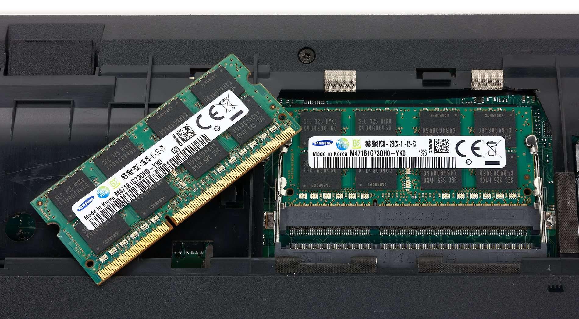 Как снять модули памяти с ноутбука