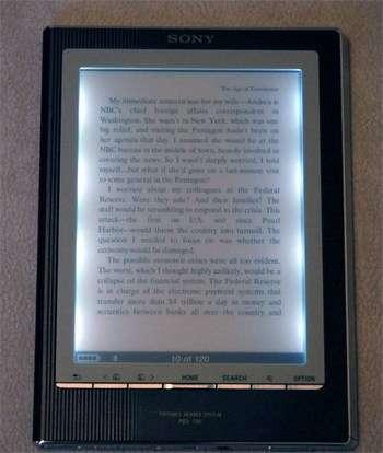 Подсветка экрана электронной книги