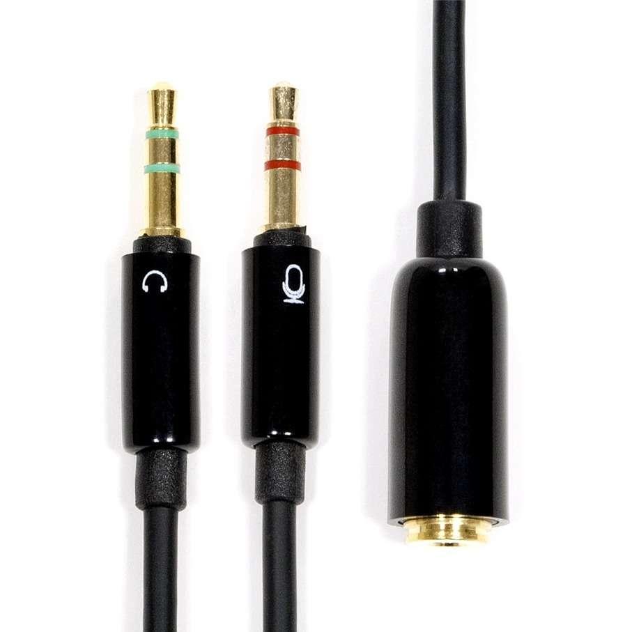 Раздельные разъемы для подключения колонок и микрофона