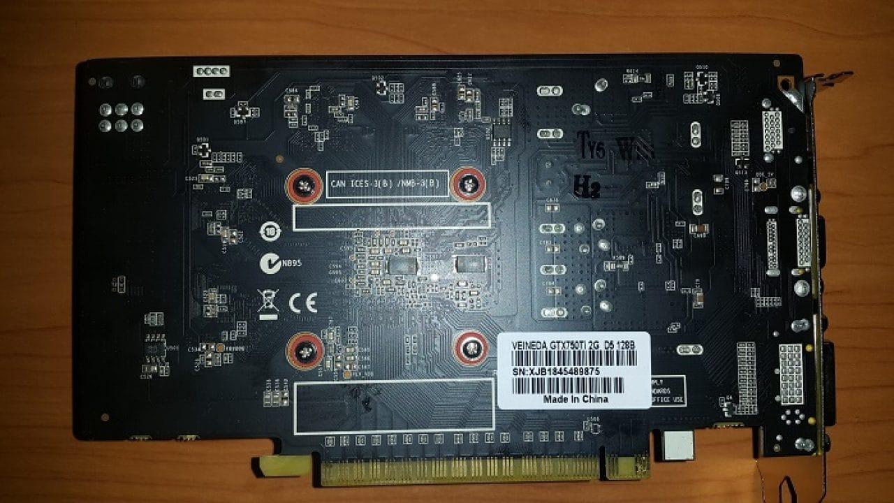 Серийный номер видеокарты GTX 750 Ti