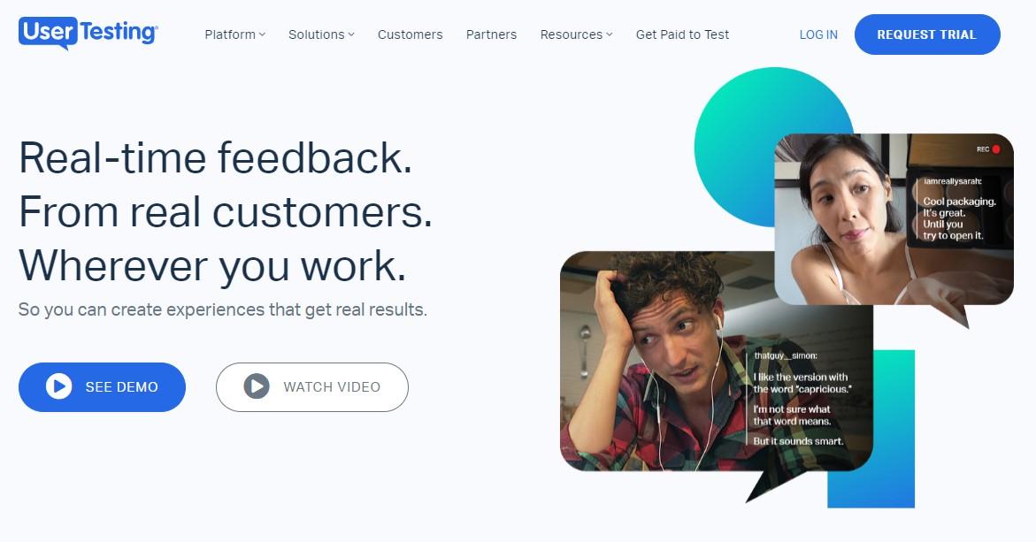 скриншот сервиса Usertesting