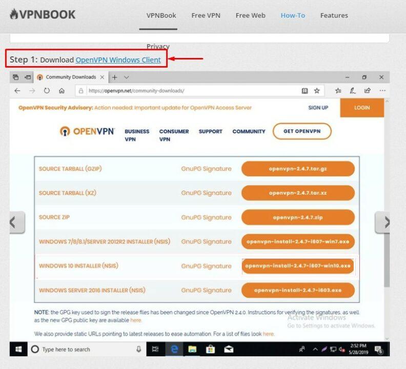 Скачать OpenVPN Windows Client