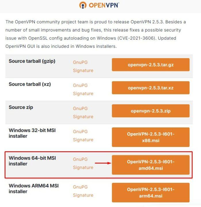 OpenVPN для windows 10 64-bit