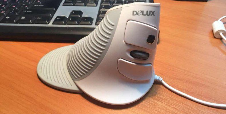 Вертикальная Компьютерная Мышь — Delux M618 от туннельного синдрома